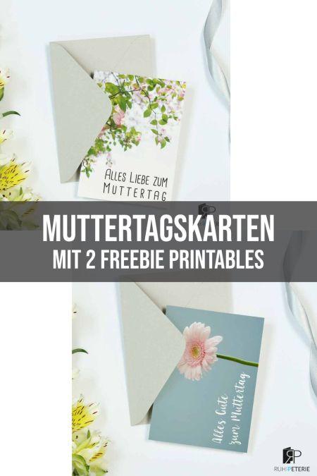 Freebie Printables Muttertagskarten von ruhrpeterie online papeterie shop