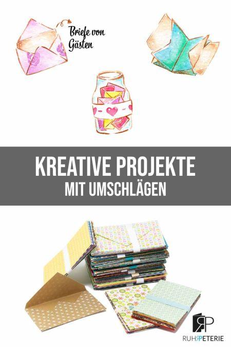 Pin kreative Projekte mit Umschlägen von ruhrpeterie papeterie online shop